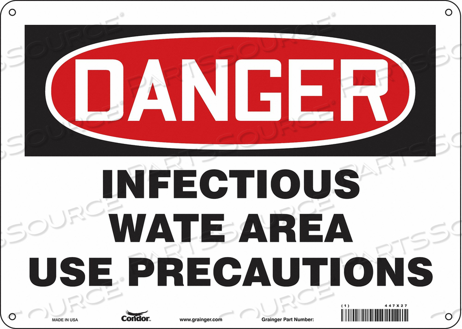 BIOHAZARD SIGN 14 W 10 H 0.055 THICK by Condor