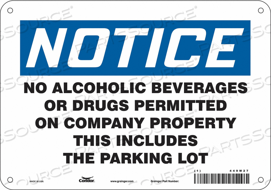 SAFETY SIGN 7 H X 10 W 0.004 THICK by Condor