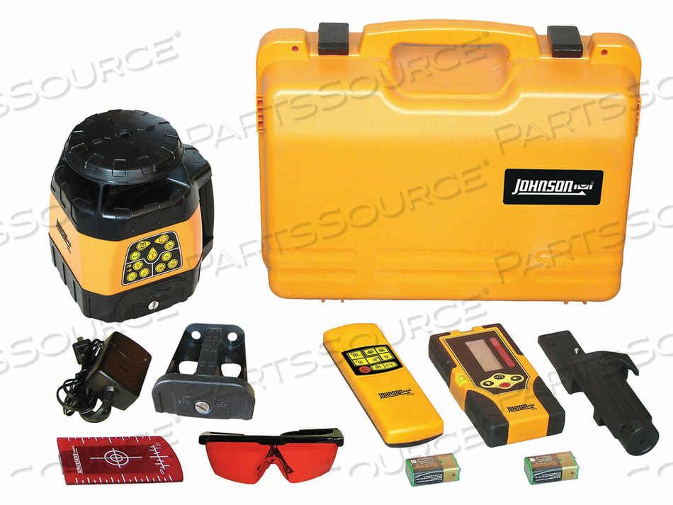 ROTARY LASER LEVEL INT/EXT RED 1500 FT. by Johnson Level