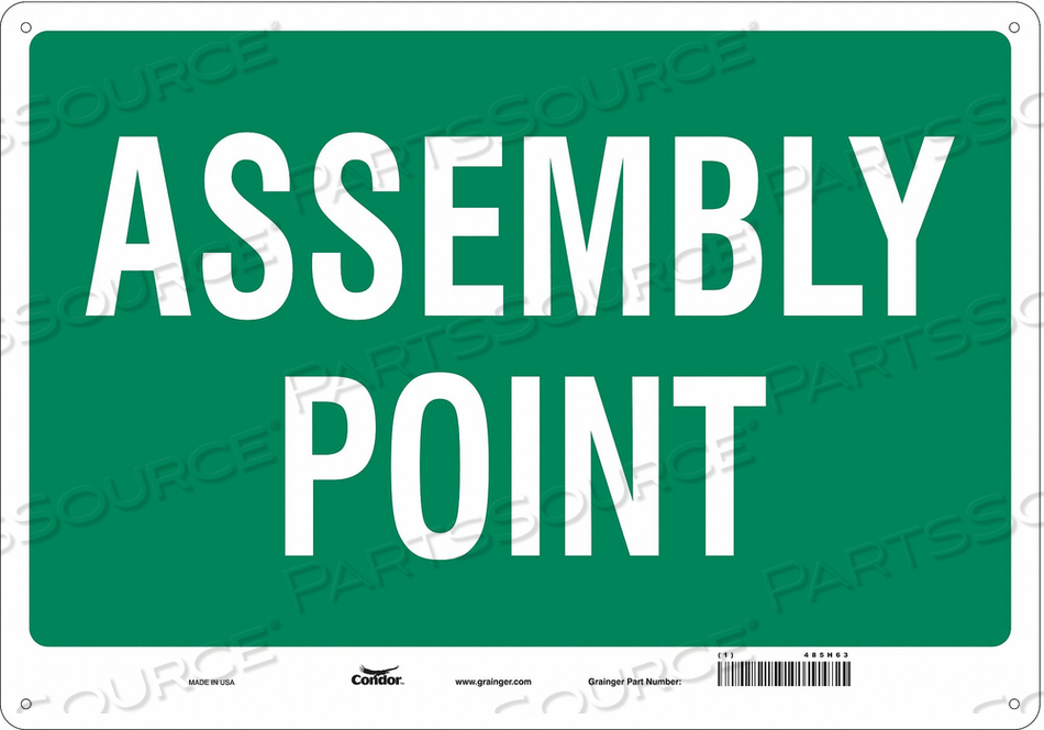 SAFETY SIGN 20 WX14 H 0.060 THICK by Condor