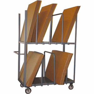 """CARDBOARD CARTON TRUCK DOUBLE LEVEL 48 X 24 5"""" POLYURETHANE CASTERS by Jamco"""