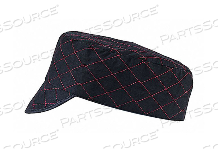 WELDERS CAP BLACK RED STITCHING 7-3/4IN by Guard Line