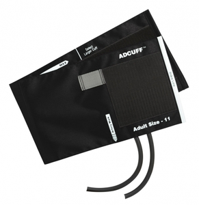ADCUFF CUFF AND BLADDER, 2 TUBE, ADULT, 23 TO 40 CM, BLACK by American Diagnostic Corporation (ADC)