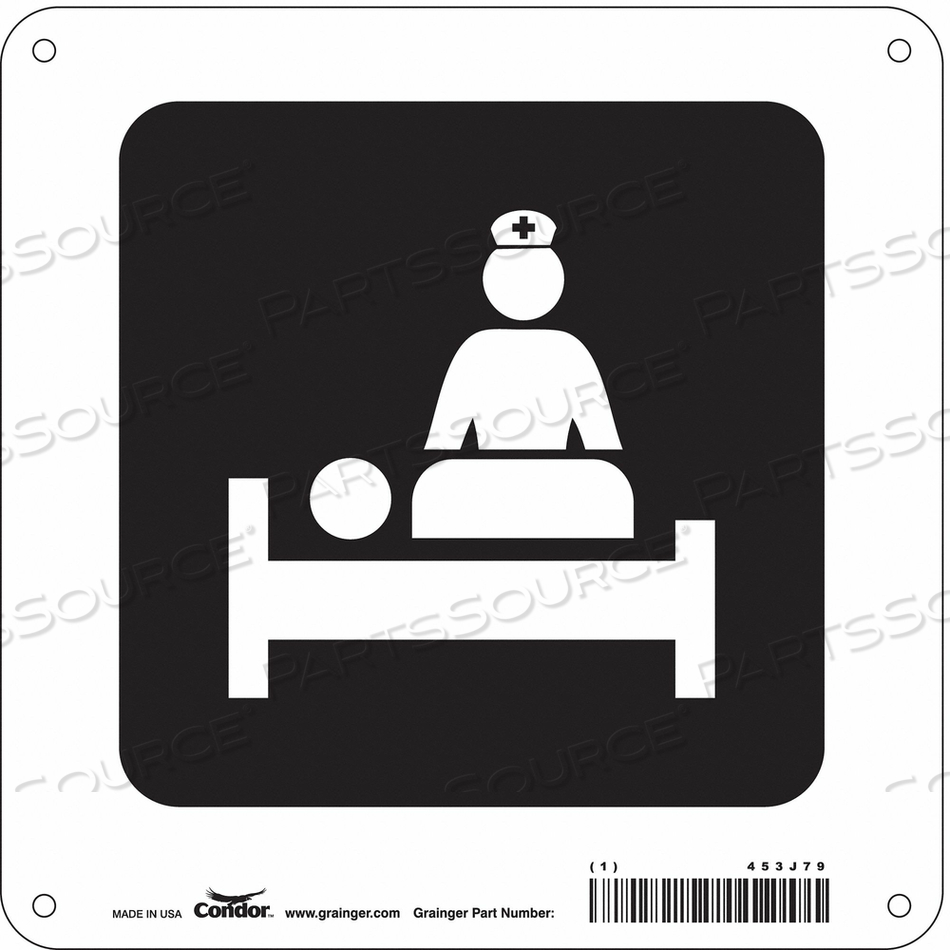 HOSPITAL SIGN 8 H X 8 W 0.055 THICK by Condor