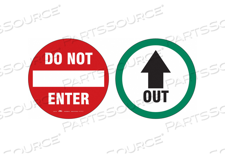EXIT SIGN DO NOT ENTER/OUT 6 DBL SIDED by Condor