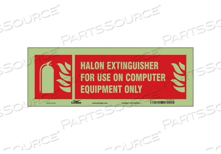 SAFETY SIGN 14 W 5 H 0.010 THICKNESS by Condor