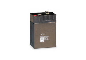BATTERY SEALED LEAD ACID 6V 4A/HR. by Lithonia Lighting