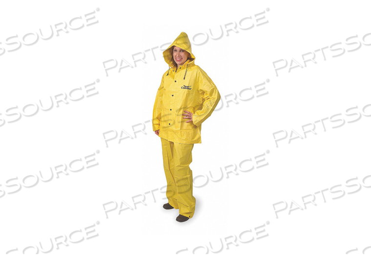 D2286 RAIN SUIT JACKET/BIB UNRATED YELLOW XL by Condor