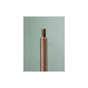 """THREADED 10MM ROD, 4' 11-1/16""""L, BRUSHED STAINLESS STEEL by Nova Display, Inc"""