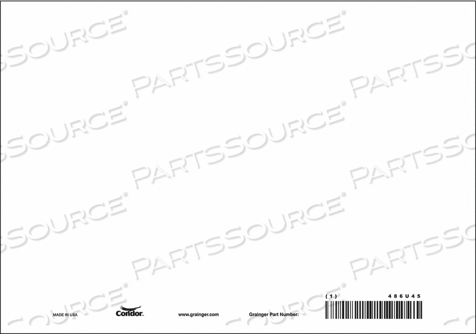 SAFETY SIGN 10 W 7 H 0.550 THICK PK10 by Condor