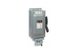 SAFETY SWITCH 600VAC 3PST 100 AMPS AC by Square D