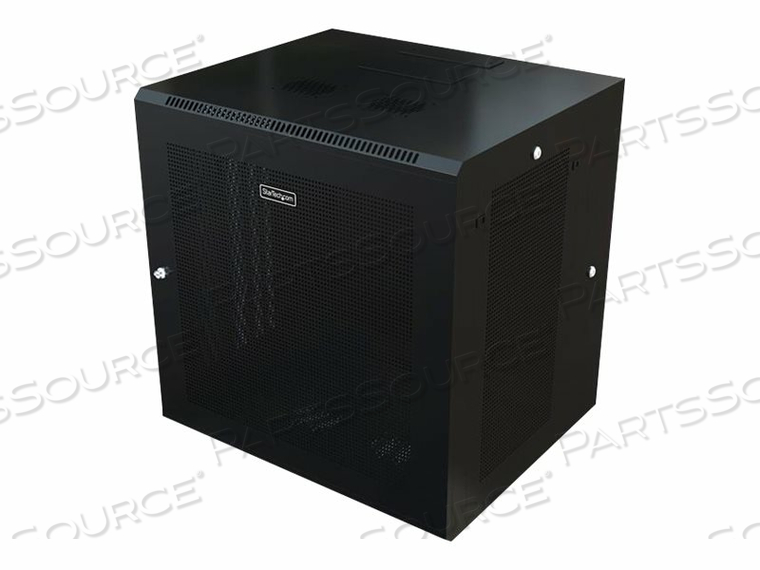 STARTECH.COM 12U WALL-MOUNT SERVER RACK CABINET - 24 IN. DEEP - HINGED - RACK ENCLOSURE CABINET - WALL MOUNTABLE - BLACK - 12U by StarTech.com Ltd.