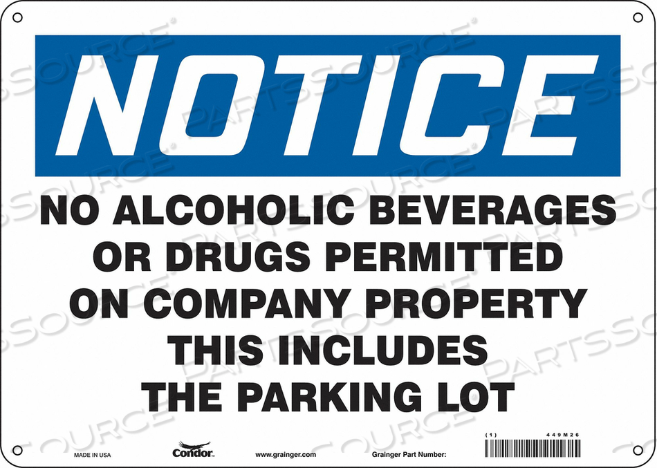 SAFETY SIGN 10 H X 14 W 0.055 THICK by Condor