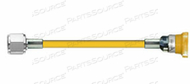 CONDUCTIVE HOSE ASSEMBLY, 1/4 IN ID, AIR, YELLOW, DISS HEX NUT X FEMALE CONNECTION, 5 FT by Amvex (Ohio Medical, LLC)