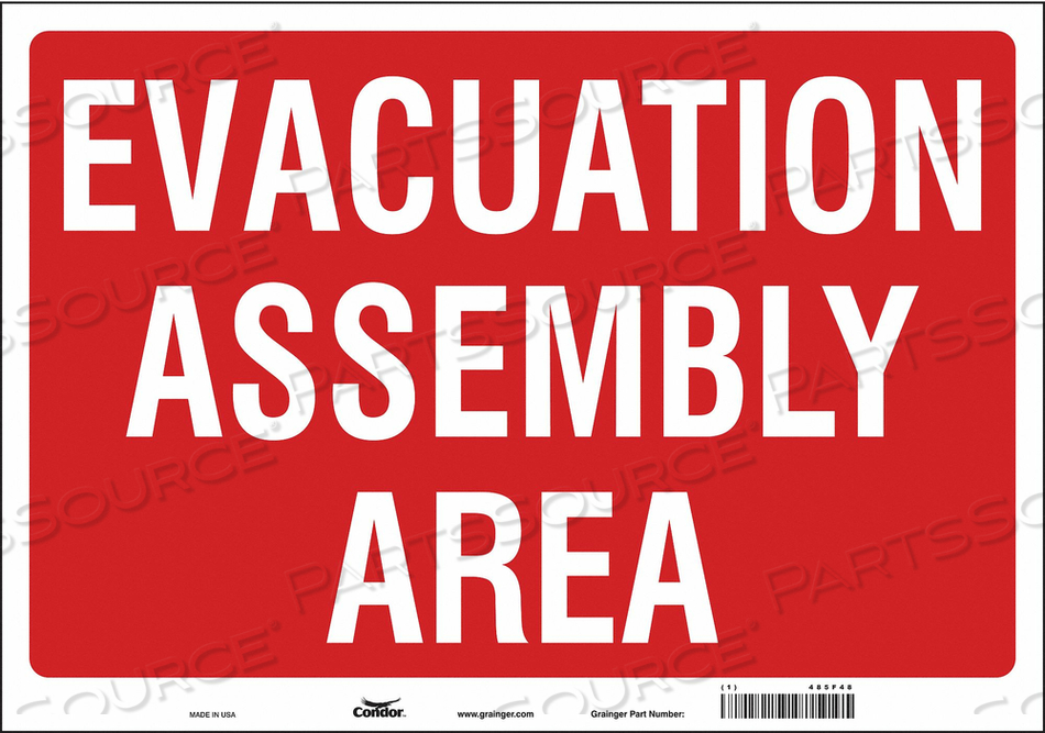 J9330 SAFETY SIGN 20 WX14 H 0.004 THICK by Condor