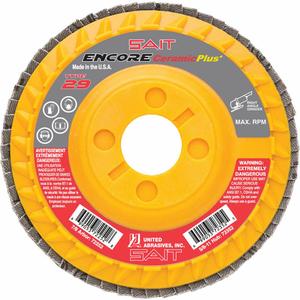 """ENCORE FLAP DISC TYPE 29 4-1/2 """" X 7/8"""" 40 GRIT CERAMIC by United Abrasives-Sait"""