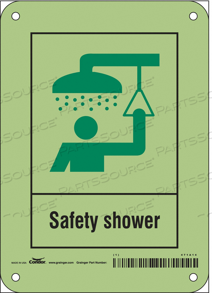 SAFETY SIGN 5 W X 7 H 0.070 THICK by Condor