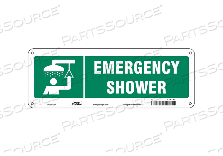 SAFETY SIGN 14 W X 5 H 0.055 THICK by Condor