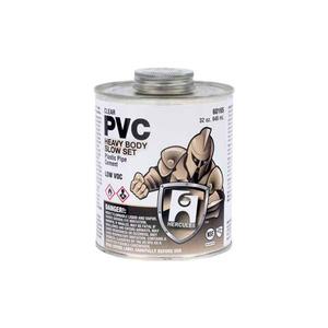 HERCULES PVC - CLEAR, HEAVY BODY, SLOW SET CEMENT DAUBER IN CAP 8 OZ. by Oatey