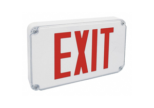 EXIT SIGN RED LETTER 2 FACES by Fulham