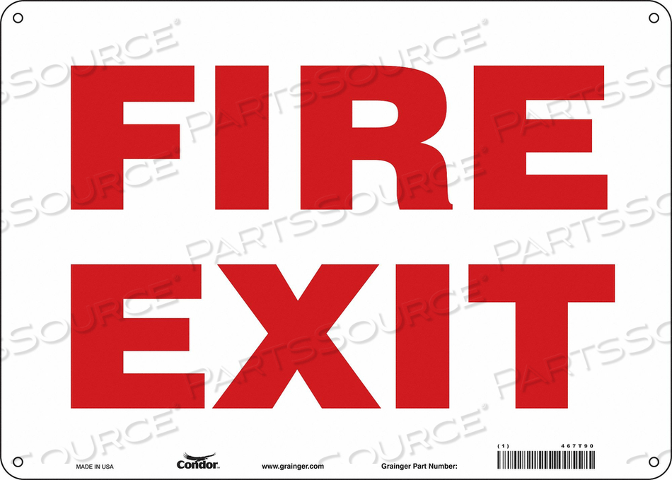 J7048 SAFETY SIGN 10 X14 ALUMINUM by Condor