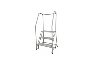 SAFETY ROLLING LADDER 3 STEPS 26IN.D by Cotterman