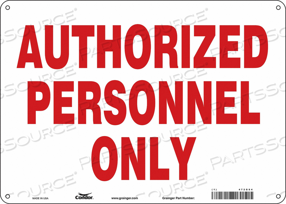 J7005 SAFETY SIGN 14 W 10 H 0.055 THICKNESS by Condor