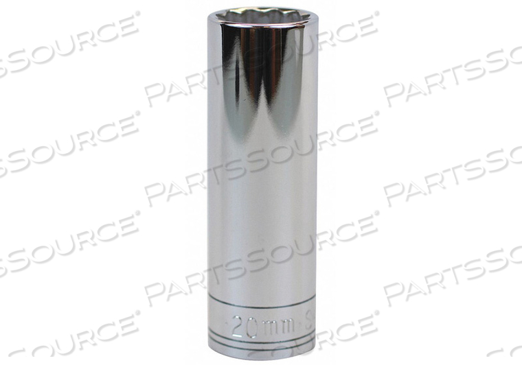 SOCKET 1/2 IN DR 20MM 12 PT. by SK Professional Tools