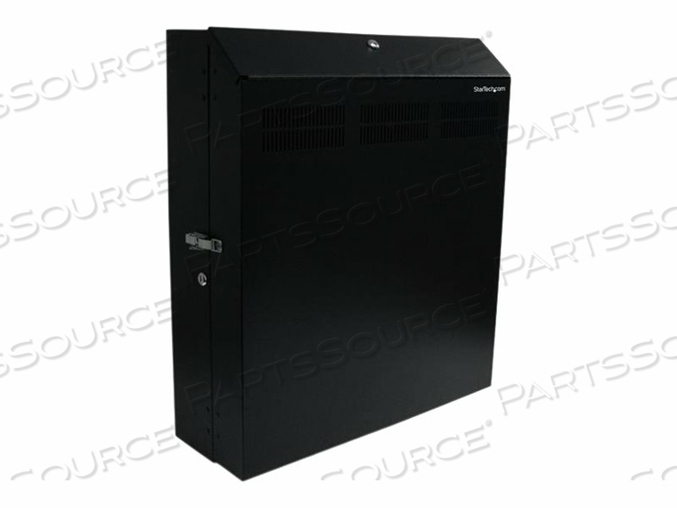 "STARTECH.COM 4U 19IN SECURE HORIZONTAL WALL MOUNTABLE SERVER RACK - RACK (WALL MOUNT) - 120 MM - BLACK - 10U - 19"" by StarTech.com Ltd."