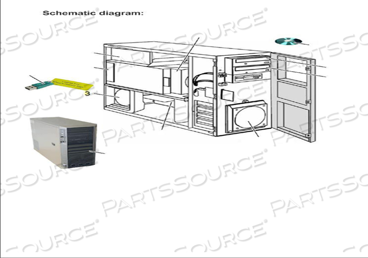 HEATPIPE DOOR FAN KIT 12V- by Siemens Medical Solutions