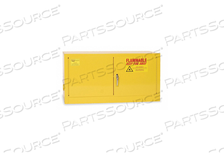 FLAMMABLE SAFETY CABINET 15 GAL. YELLOW by Eagle