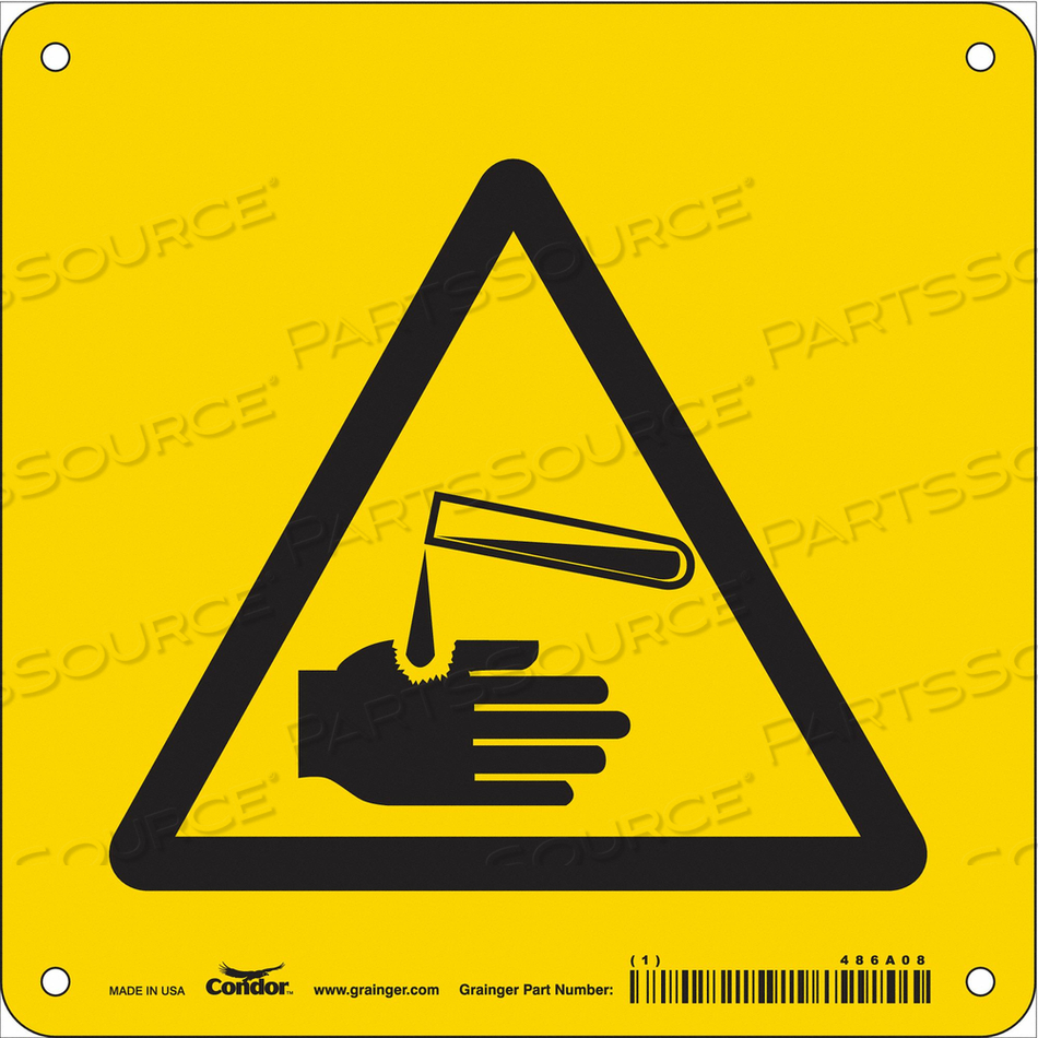 CHEMICAL SIGN 7 W 7 H 0.032 THICKNESS by Condor