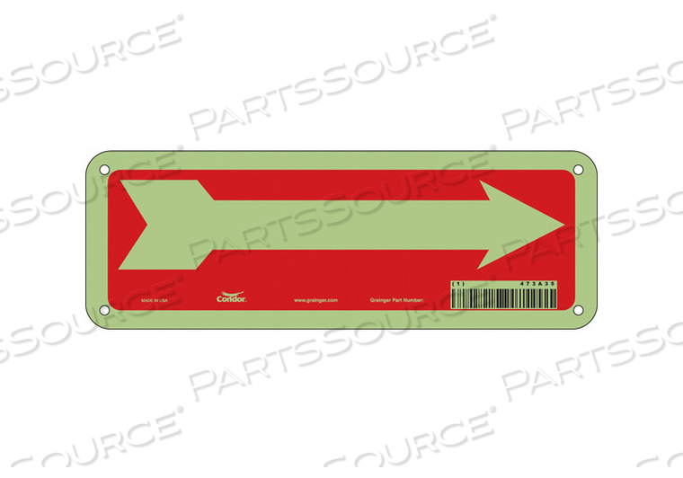 SAFETY SIGN 10 W 3-1/2 H 0.070 THICK by Condor