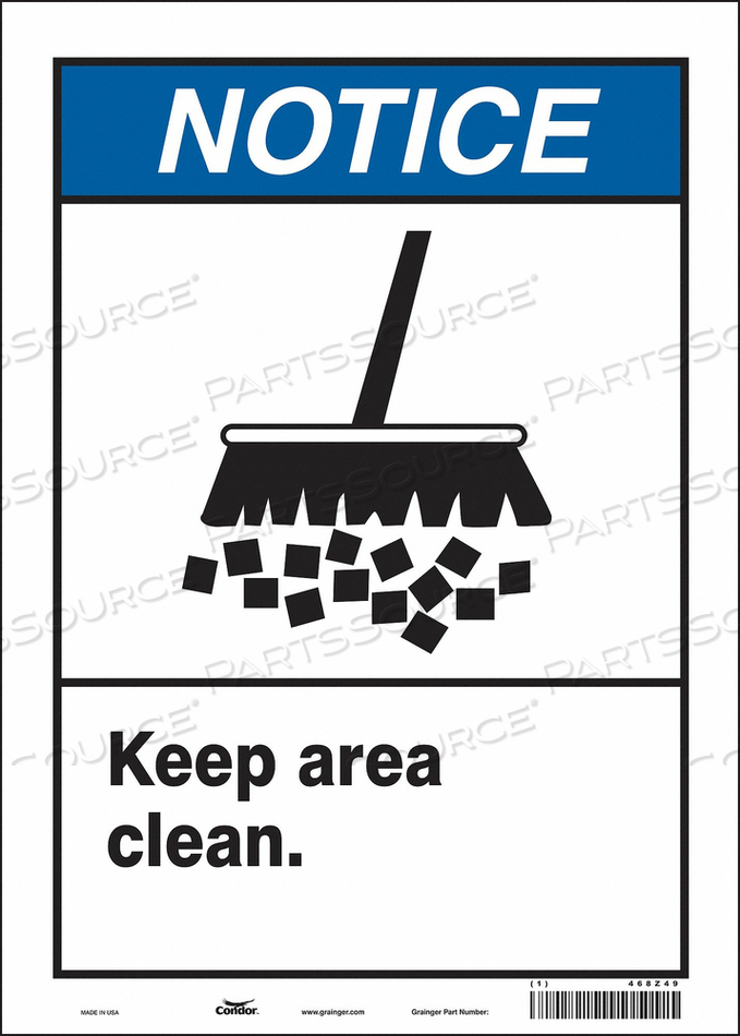 SAFETY SIGN 10 14 0.004 THICKNESS by Condor
