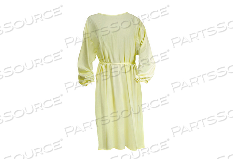 PROTECTIVE PROCEDURE GOWN, ONE SIZE FITS MOST, YELLOW, NONSTERILE, DISPOSABLE (50/CS) by McKesson