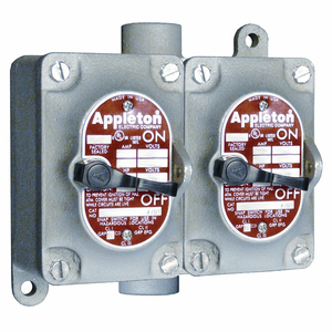 TUMBLER SWITCH EDSC SERIE 2 GANGS 2-POLE by Appleton Electric