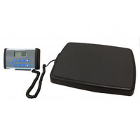 DIGITAL FLOOR SCALE WITH REMOTE DISPLAY AND SERIAL PORT WITH POWER ADAPTER, 500 LB X 0.2 LB by Health o meter Professional Scales