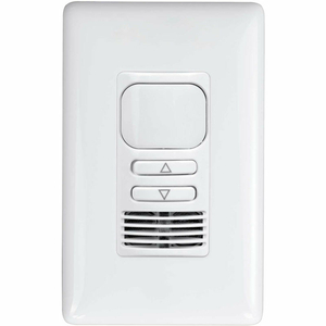 LIGHTHAWK PIR/ULTRASONIC DIMMING 2-BUTTON WALL SWITCH OCCUPANCY SENSOR, SINGLE RELAY, WHITE by Hubbell Power Systems
