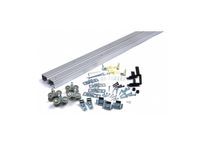 TRACK KIT SLIDING DOOR TYPE ALUM. SILVER by National Guard Products