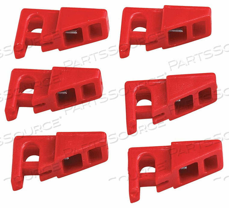 CIRCUIT BREAKER LOCKOUT RED 1-1/8 H PK6 by Condor