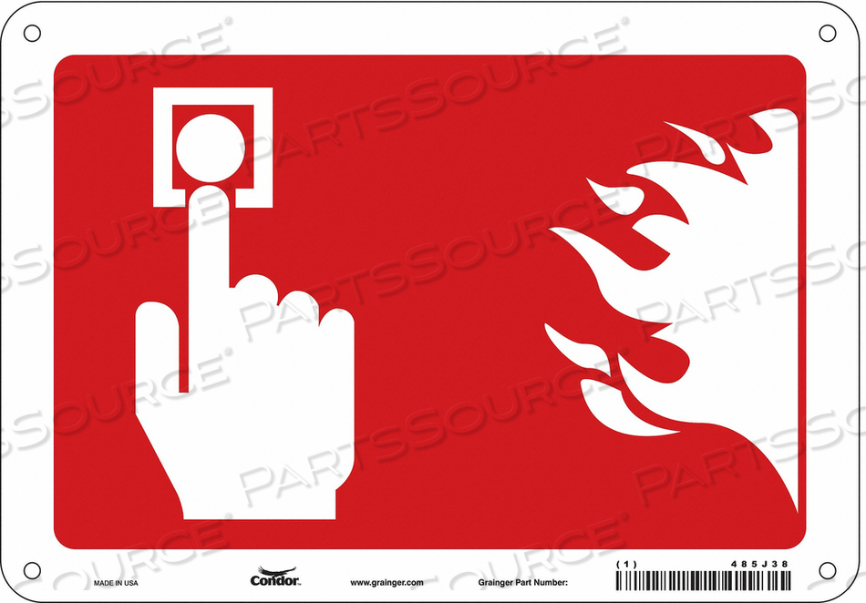 SAFETY SIGN 10 WX7 H 0.010 THICK by Condor