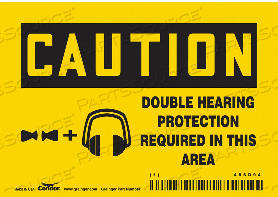 SAFETY SIGN 5 W 3-1/2 H 0.004 THICKNESS by Condor