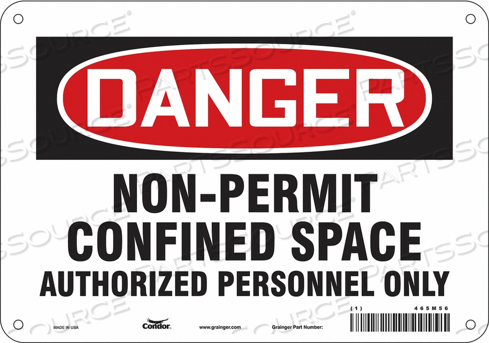 SAFETY SIGN 7 H 10 W ALUMINUM by Condor