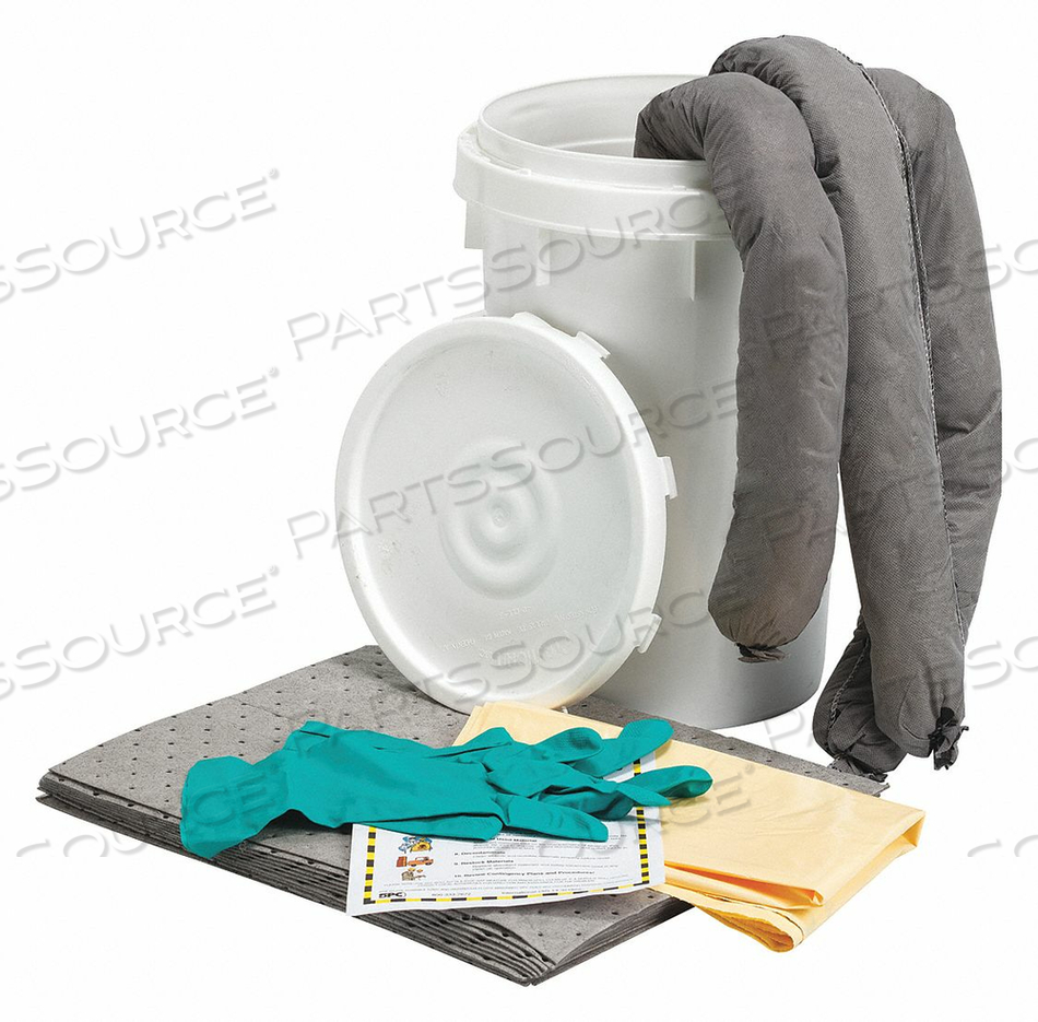 SPILL KIT BUCKET UNIVERSAL 9 GAL. 18 H by Condor