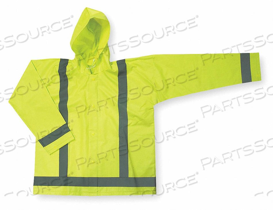 D2326 RAIN JACKET UNRATED YELLOW/GREEN XL by Condor