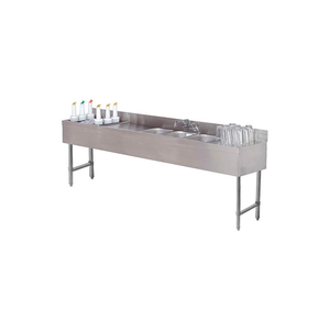 """COMBO UNIT, 4 COMP 18X96 W/ (2) 12"""" DRAINBOARDS, 24"""" COCKTAIL STATION LEFT SIDE by Advance Tabco"""