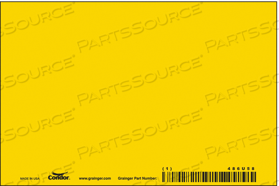 SAFETY SIGN 6 W 4 H 0.040 THICK PK10 by Condor