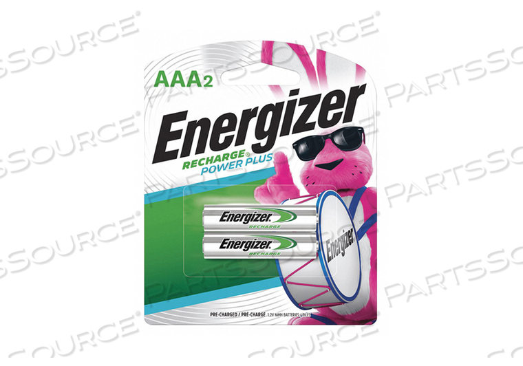 BATTERY RECHARGEABLE, AAA, NICKEL METAL HYDRIDE, 1.2V, 700 MAH, (PACK OF 2) by Energizer