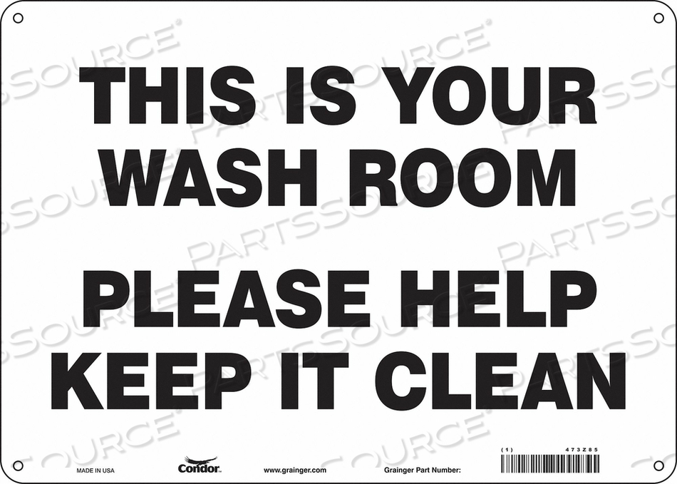 RESTROOM SIGN 14 W 10 H 0.060 THICK by Condor