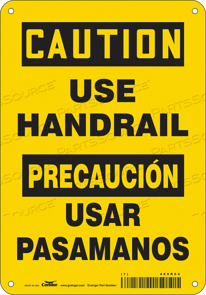 SAFETY SIGN 7 W 10 H 0.055 THICKNESS by Condor